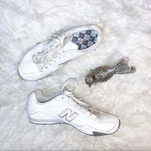 New Balance 442 White Leather Athletic Shoes Sz 6
